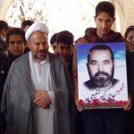 مراسم یادبود شهیدان حاج اکبر شفیعی و هفت نفر از پرسنل قهرمان نیروی انتظامی در گلزار شهداء بخش
