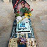 برگزاری جشن میلاد سردار شهید ماشااله رشیدی در کنار قبر مطهرش
